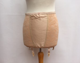 Control Body Shaper Underbust Garter / Grunge Nude Girdle / New condition Vintage Girdle / Gotic panty Girdle /PinUp nude lingerie