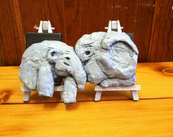 3d Carved Elephants