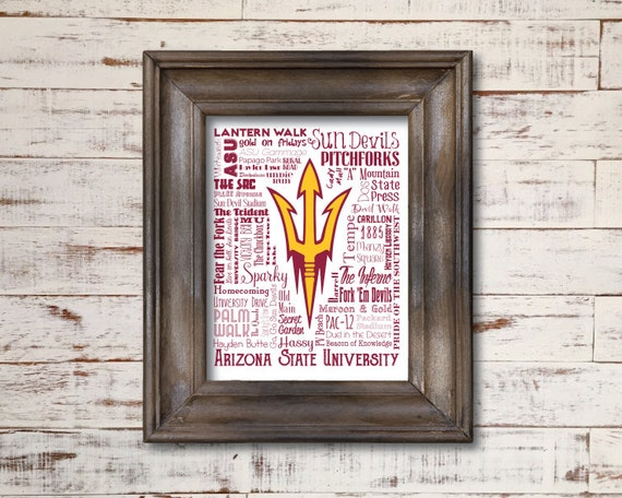 home and decor tempe az arizona state sun devils word by 12199