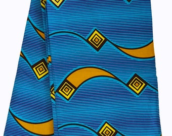 African fabric Bright Blue African fabric, African Fabric by the Yard, Ankara fabric, African print fabric,wax print, African material