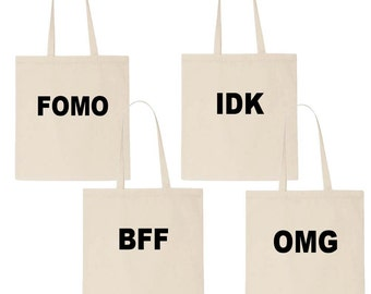 Tote Bag, Funny Tote Bag, Gift Bags, Canvas Tote Bag, Handbag, Bridesmaid Totes, Birthday Gifts for Her, Reusable Grocery Bag, Grocery Bag
