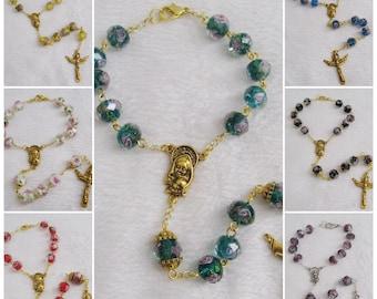 Lampwork Glass Beads Car Rosary