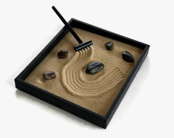 Office Decor Desk Decor Unique Gift for Teacher Mini Zen Garden - Mindfulness Meditation Desktop Accessories Stress Relief Tranquility