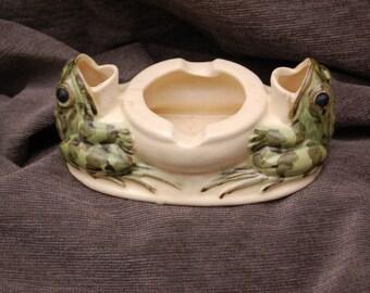 Brush McCoy Double Frog Ashtray