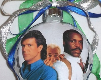 Lethal Weapon inspired tribute Glass Christmas Ornament