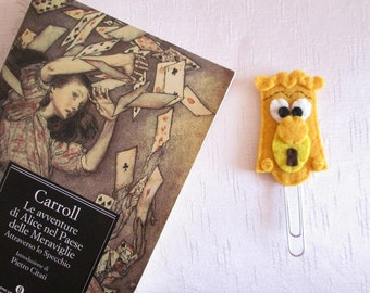 Alice in Wonderland Doorknob bookmark - Doorknob paper clip - Felt bookmark - Gift for bookworm - Handmade