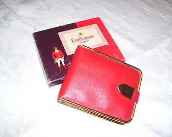 Craftsman Billfold Ladies Billfold Ladies Wallet UNUSED IN BOX Vintage