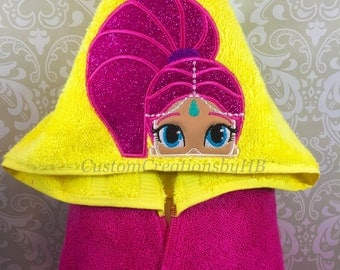 Shimmer and Shine Inspired Genie Hooded Towel on High Quality Belk Department Store Towels