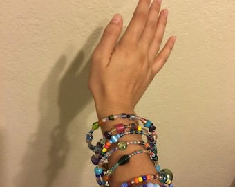 Stackable, Bendable, Beaded Bangles