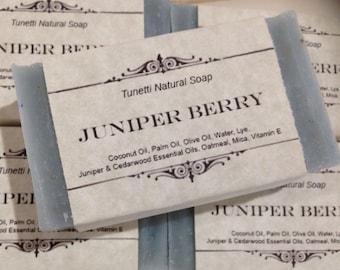 Juniper Berry Natural Homemade Soap, Handmade soap, Natural Soap, Cold Process Lye Soap
