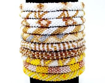 WHOLESALE LOT of 10 Roll-On Bracelets Bracelets, Beaded Bracelets, Handmade Bracelets, Nepali Bracelets, Fair Trade Bracelet, Pink Bracelets
