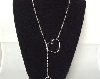 Single heart lariat necklace