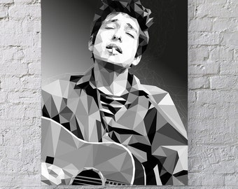 People seldom do what they believe in - Bob Dylan Print