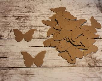 Butterfly Diecut - Kraft Paper - Pack of 25