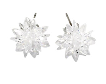 Shiny ice crystals earrings