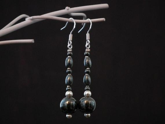 Bloodstone & 925S Silver Earrings