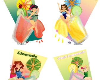Pin Up Girls and Summer Fun Drinks