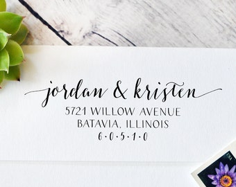 Self Inking Return Address Stamp - Wedding Return Address - Self Inking Stamp - Custom Address Stamp - Address Stamp - Return to Stamp - 100