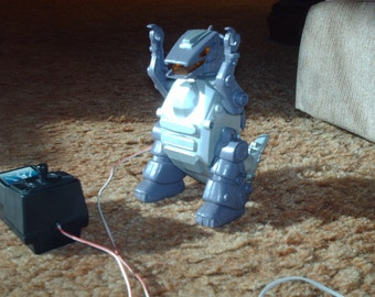Robot With Wired Remote