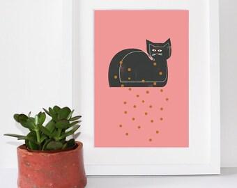 Fleabag Cat Print