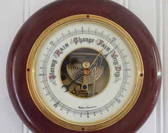 Lufft Barometer with Wood Case