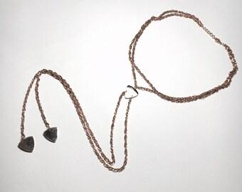 Necklace, rose gold picks