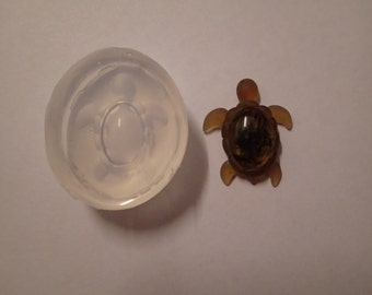 Turtle clear silicone mould for resin jewellery/craft and polymer clay  31 x 26 mm