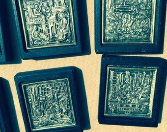 Eight Small Sterling Russian Icons
