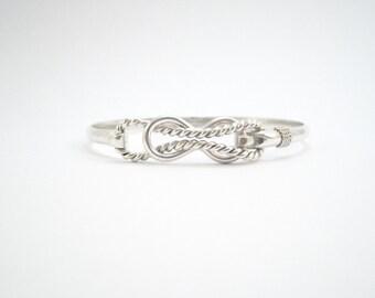 Cape Cod Sailors Knot Bracelet- Silver