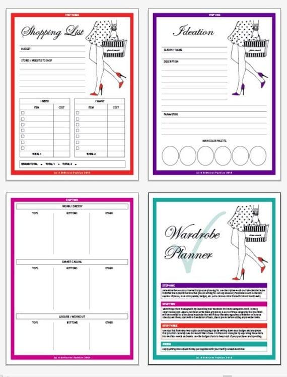 Wardrobe Planner Printable Worksheet By