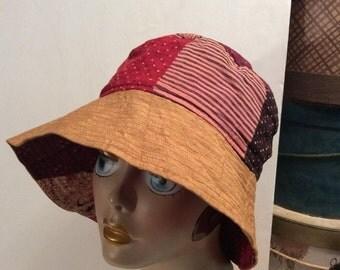 20% OFF SALE Vintage Sarralyna patchwork Bucket Hat