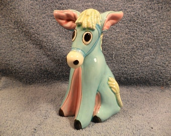 Cute Donkey Bank Figurine Lefton China Japan
