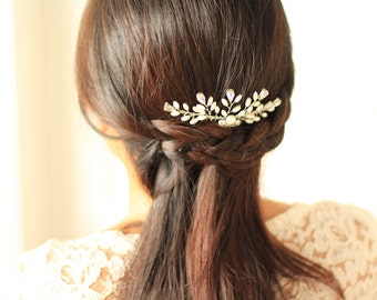 Bridal Hair Comb - More Than Happy Ferns Hair Comb - # 11 - Made to Order