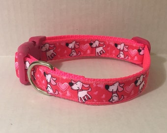 Puppy Valentine Dog Collar