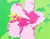 SILKSCREEN PRINT: 'Hibiscus', Illustration, Art, Hand-made, Original, Limited Edition