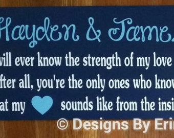 No one will ever know the strength of my love for you... Wooden Wall Art