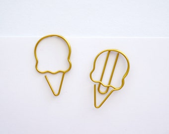 2pk Ice Cream Paper Clips Bookmark for your Planner