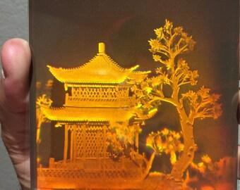 Japanese temple- 3D hologram