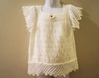 Lacy white top for a little girl