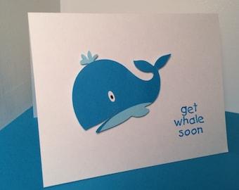 get whale soon (get well soon) pun card