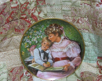 "Vintage Mother and Son Collectible Plate, ""Times Remembered"" Vintage Collectible Plate, 1986 Mother's Day Mother and Son Collectible Plate"