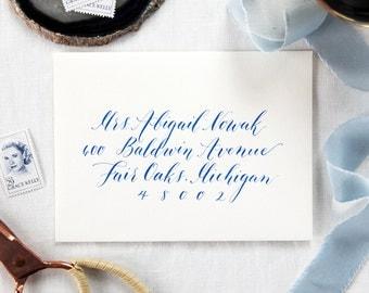 Custom Envelope Calligraphy; Wedding, Hand-written Address in Hamilton Style Font
