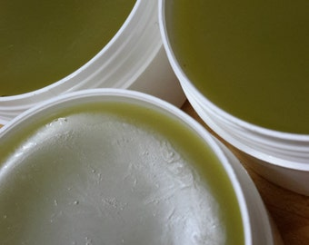 LEMON MYRTLE SALVE  with Patchouli ~ Made with Organic Olive Oil infused with Calendula Flowers & Safflowers