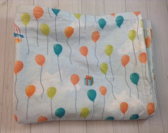 Extra Large Balloon Inspired Flannel Receiving Blanket - Swaddling Blanket - Crib a bedding - Ready To Ship