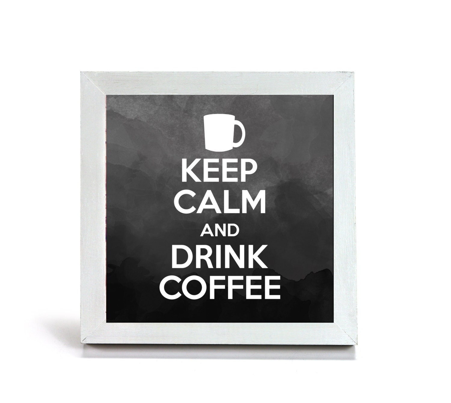 Keep Calm and Drink Coffee Office Print and Frame