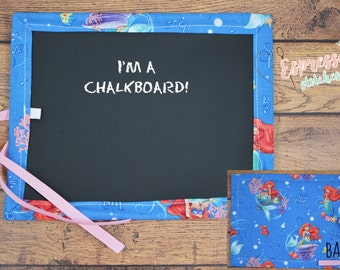 Chalkboard mat   art roll   chalk roll   coloring   travel art   chalk art   mermaid