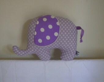 Emily the elephant, handmade soft toy elephant, crib toy,
