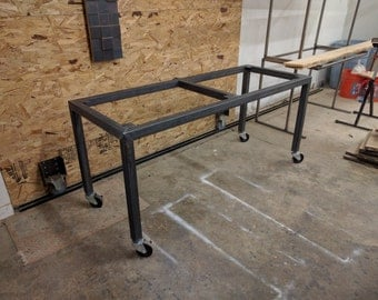 custom steel table frame local pickup