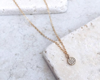 Tiny gold charm, 14k gold filled, delicate necklace, gift for her, bridesmaids gift, Unique necklace, birthday gift,