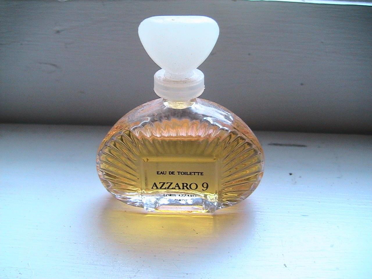 vintage azzaro 9 eau de toilette miniature bottle